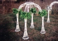 Rental store for GAZEBO, 4 COLUMN WHITE WICKER in Morristown NJ