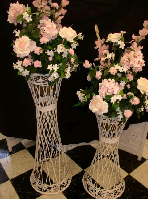 Where to find STAND, FLOWER 64  WHITE WICKER in Morristown