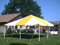 Where to rent CANOPY, 20 X 20 YELLOW WHITE in Morristown NJ