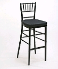 Where to rent CHAIR,CHIAVARI BARSTOOL BLACK in Morristown NJ