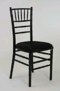 Where to rent CHAIR, CHIAVARI, BLACK in Morristown NJ