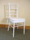 Where to rent CHAIR, CHIAVARI WHITE in Morristown NJ