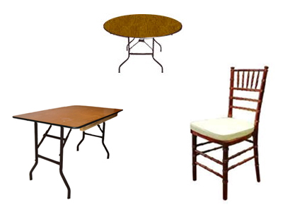 Table and chair rentals in Morris Plains New Jersey, Cedar Knolls, Madison NJ, Morristown NJ